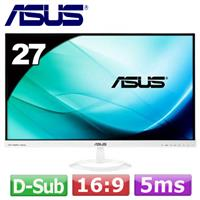 R1【福利品】ASUS 27型廣角無邊框液晶螢幕VX279H-W  白色