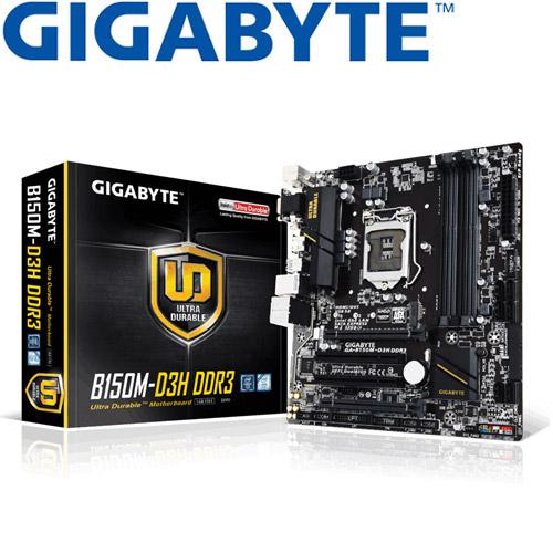 GIGABYTE技嘉 GA-B150M-D3H DDR3 主機板