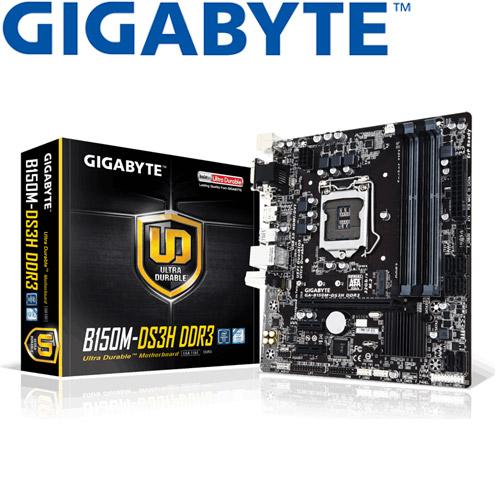 GIGABYTE技嘉 GA-B150M-DS3H DDR3 主機板