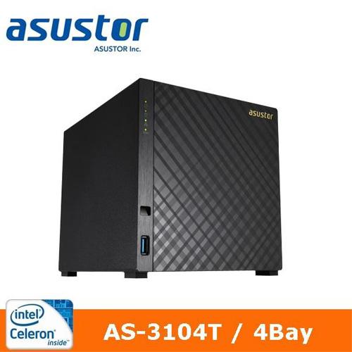 ASUSTOR 華芸 AS-3104T 4Bay 網路儲存伺服器
