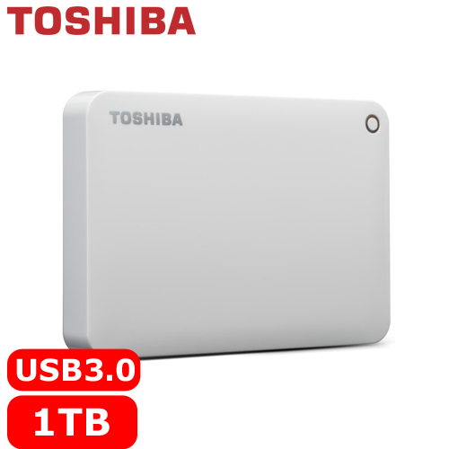 TOSHIBA CanvioConnectII V8 2.5吋 1TB行動硬碟白