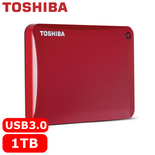 TOSHIBA CanvioConnectII V8 2.5吋 1TB行動硬碟紅