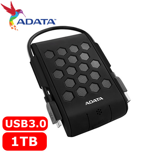 ADATA威剛 Durable HD720 1TB(黑) 2.5吋軍規防水防震行動硬碟