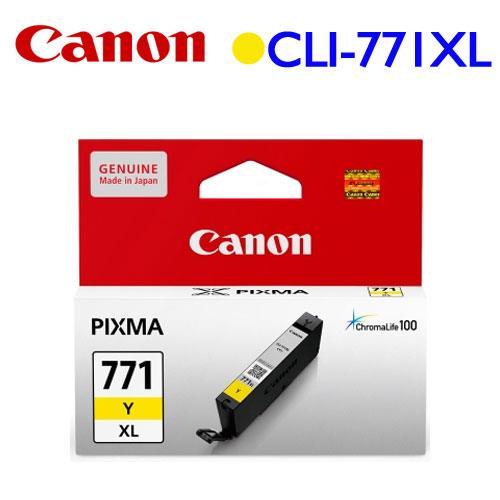 Canon CLI~771Y XL 高容量墨水匣 ^(黃^)