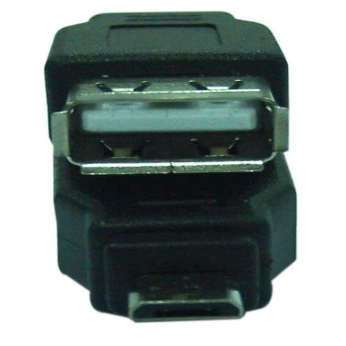 Micro USB B公對A母轉接頭