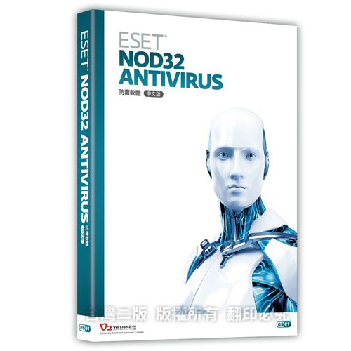 【ESET NOD32】Antivirus 防毒軟體 3人盒裝版 (3年)