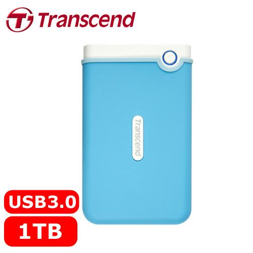 Transcend創見 25M3 1TB 2.5吋 軍規防震防摔硬碟 水藍色