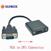 VGA 轉 DVI 電子式轉換器