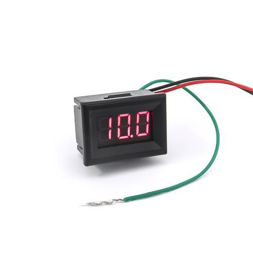 防水型0.36三位元LED電壓錶頭 DC0~100V(黑殼紅光)