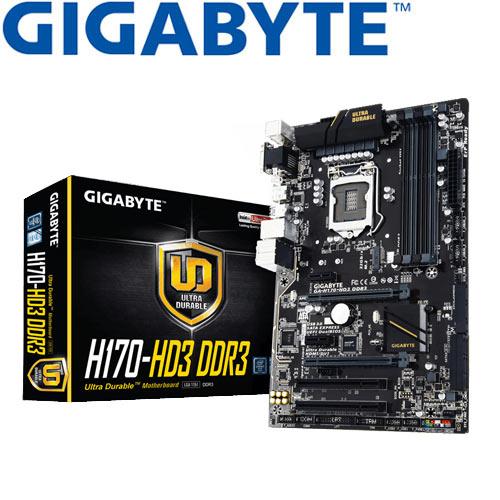 GIGABYTE技嘉 GA-H170-HD3 DDR3 主機板