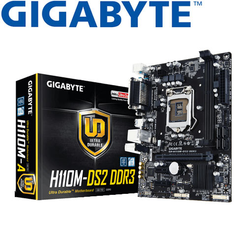 GIGABYTE技嘉 GA-H110M-DS2 DDR3 主機板
