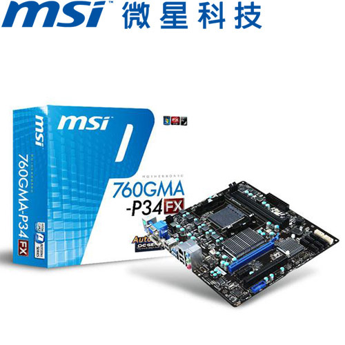 MSI微星 760GMA-P34 (FX) 主機板