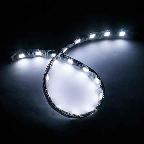 5050黑底扁條燈18燈 30cm七彩