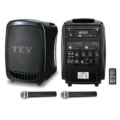 TEV DVD/CD/USB/SD雙頻無線擴音機 TA330D-2
