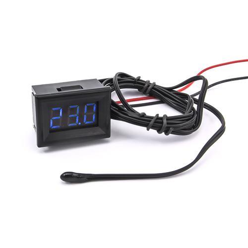 防水型0.36三位元 LED溫度錶頭/熱敏電阻(黑殼藍光)