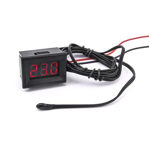 防水型0.36三位元 LED溫度錶頭/熱敏電阻(黑殼紅光)