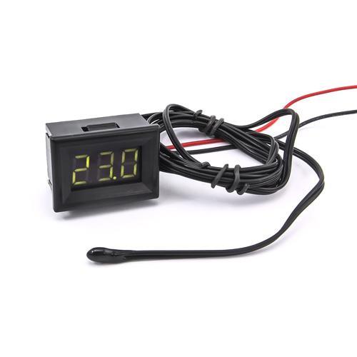 防水型0.36三位元 LED溫度錶頭/熱敏電阻(黑殼黃綠光)