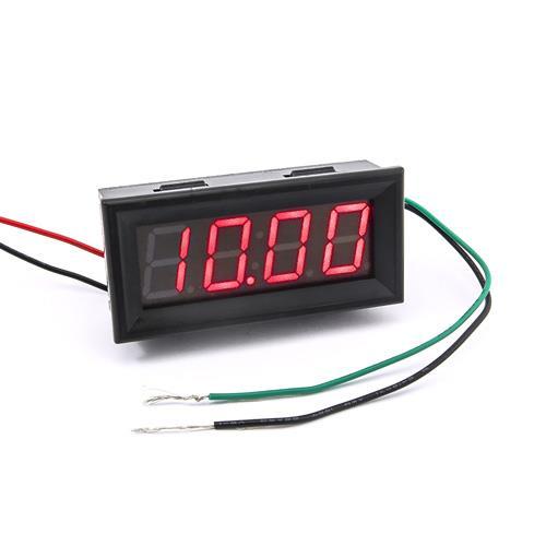 防水型0.56四位元 LED電壓錶頭 AC0~500V(黑殼藍光)