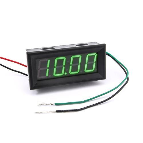 防水型0.56四位元 LED電壓錶頭 AC0~500V(黑殼綠光)