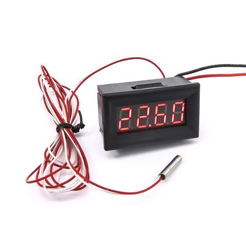 防水型0.36四位元 PT100溫度錶頭(黑殼紅光)