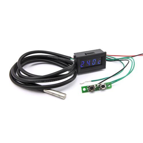 0.30四位元 溫度時間電壓三合一LED錶頭^(黑殼藍光^)