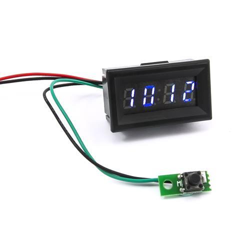 0.30四位元 LED時鐘錶頭(黑殼藍光)