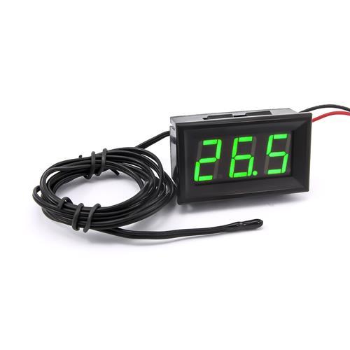 防水型0.56三位元 LED溫度錶頭/熱敏電阻(黑殼綠光)