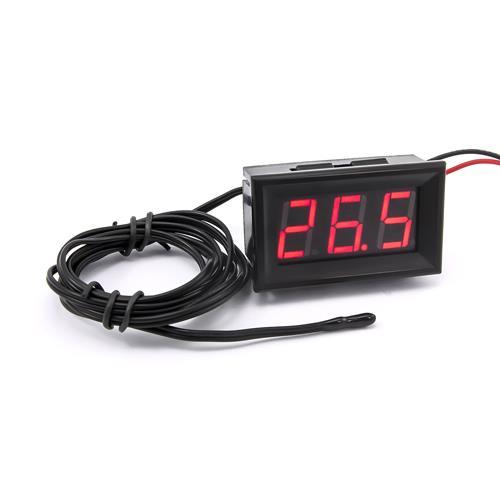 防水型0.56三位元 LED溫度錶頭/熱敏電阻(黑殼紅光)