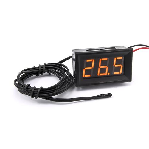 防水型0.56三位元 LED溫度錶頭/熱敏電阻(黑殼黃光)