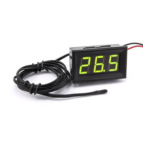 防水型0.56三位元 LED溫度錶頭/熱敏電阻(黑殼黃綠光)