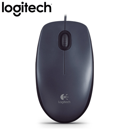 Logitech 羅技 M90 有線滑鼠 USB 黑灰