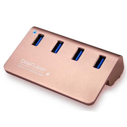 伽利略 USB3.0 4埠充電 HUB 玫瑰金