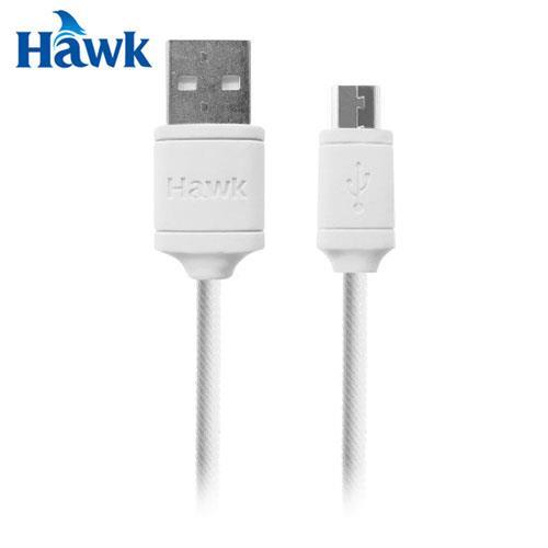 HAWK 逸盛 C160 Micro USB充電傳輸線 白