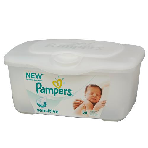 (單盒) 幫寶適Pampers 嬰兒潔膚濕紙巾盒裝56片