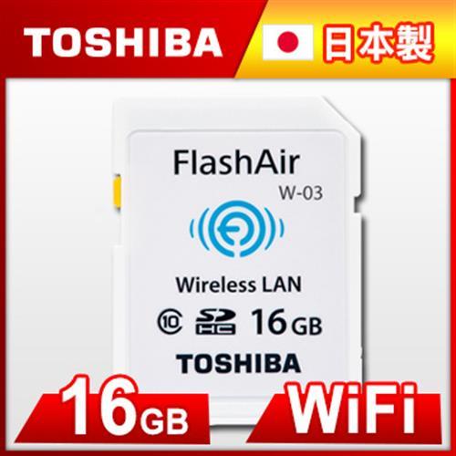 Toshiba 16GB FlashAir SDHC Card  Class 10  W~