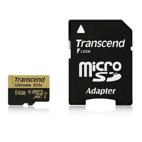 Transcend創見 ULTIMATE micro SDHC UHS-I U3 633x (頂級旗艦款) 64G 記憶卡