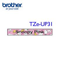 BROTHER TZe-UP31 SNOOPY護貝標籤帶粉紅