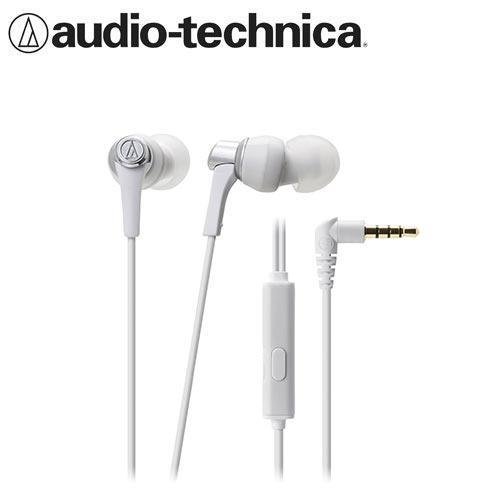 鐵三角 ATH-CKR3iS 智慧型手機用 耳塞式耳機麥克風 白