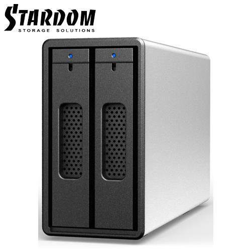 STARDOM 3.5吋/2.5吋 USB3.0 2bay磁碟陣列-ST2-B3