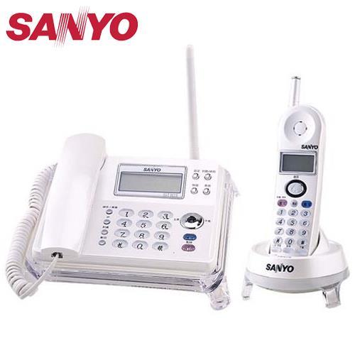 SANYO 三洋 來電顯示子母無線電話 CLT-3013 白