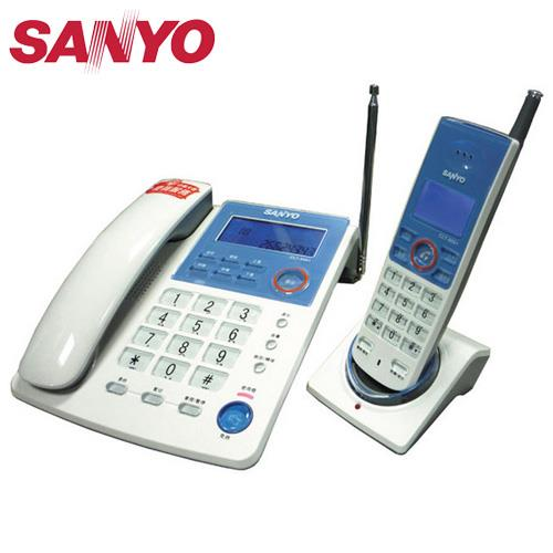 SANYO 三洋 子母機無線電話 CLT-9091 白