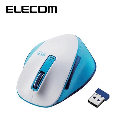 ELECOM M-XG系列 滑鼠 無線版S 藍白
