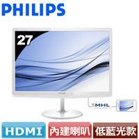 PHILIPS  27型低藍光廣視角液晶螢幕 277E6EDAW (白)