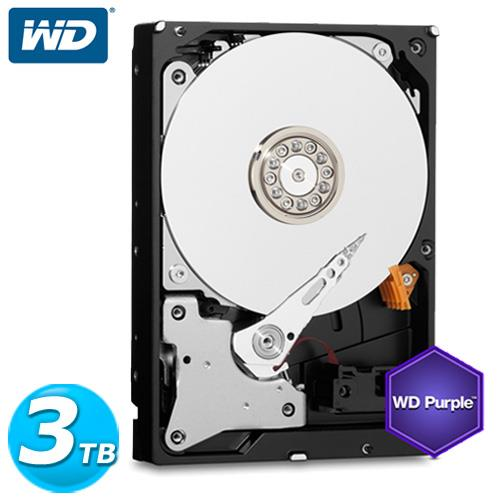 WD 紫標 3.5吋 3TB SATA3 監控系統 內接硬碟 30PURX