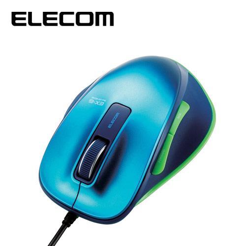 ELECOM M-XG系列 滑鼠 有線版M 藍綠