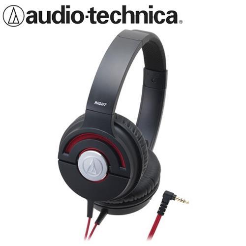 audio-technica 鐵三角 ATH-WS55X 重低音耳罩式耳機 黑紅