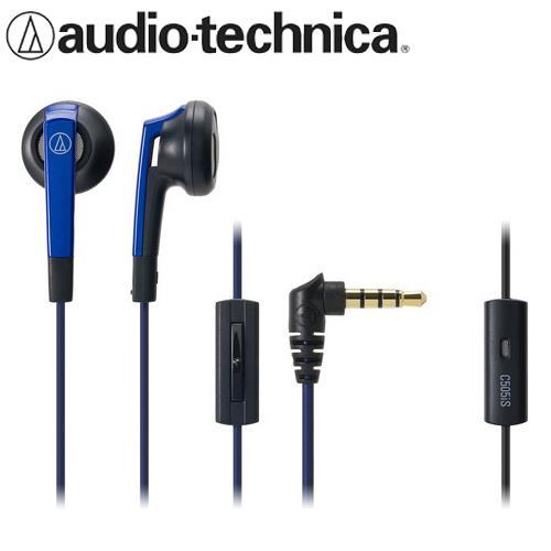 audio~technica 鐵三角 ATH~C505IS 耳塞式耳機麥克風 藍