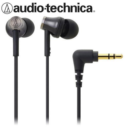 audio~technica 鐵三角 ATH~CK330M 耳塞式耳機 黑色