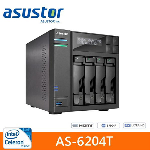 Eclife-ASUSTOR  AS-6204T 4Bay