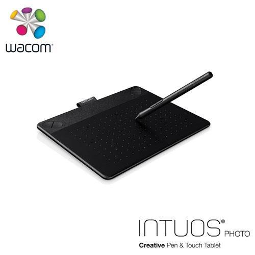 Wacom Intuos Photo相片創意觸控繪圖板-黑(小)送微軟鍵盤~228止